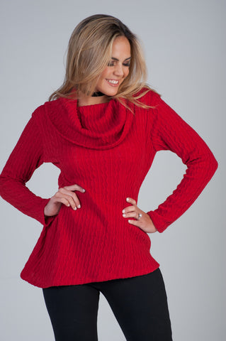 Sweater Rojo Obscuro