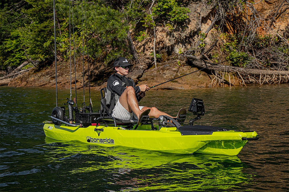 Angler pedaling their P127