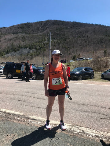 Lynn at the Cabot Trail Relay in Nova Scotia