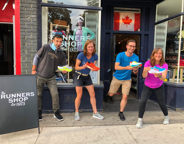 The Runners Shop staff participating in the whole shebang event in fall 2020.