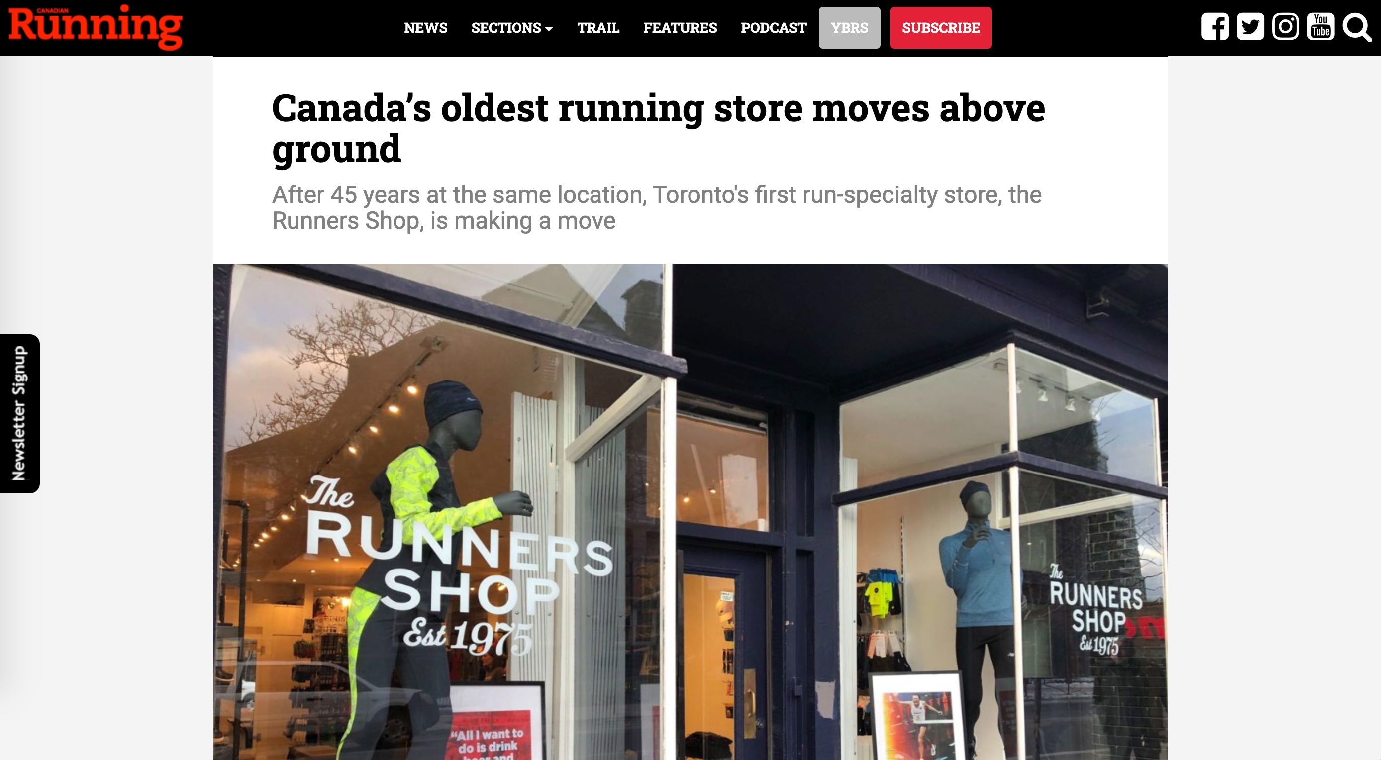 Canada's Oldest Run Specialty Store Moves Above Ground: Article Featured in Canadian Running