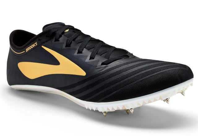 Unisex Brooks QW-Kv3 Sprint Spike_black_gold_iridescent
