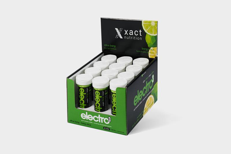 electro3 : CITRUS BANG SPORT HYDRATION TABS WITH CAFFEINE - BY XACT NUTRITION
