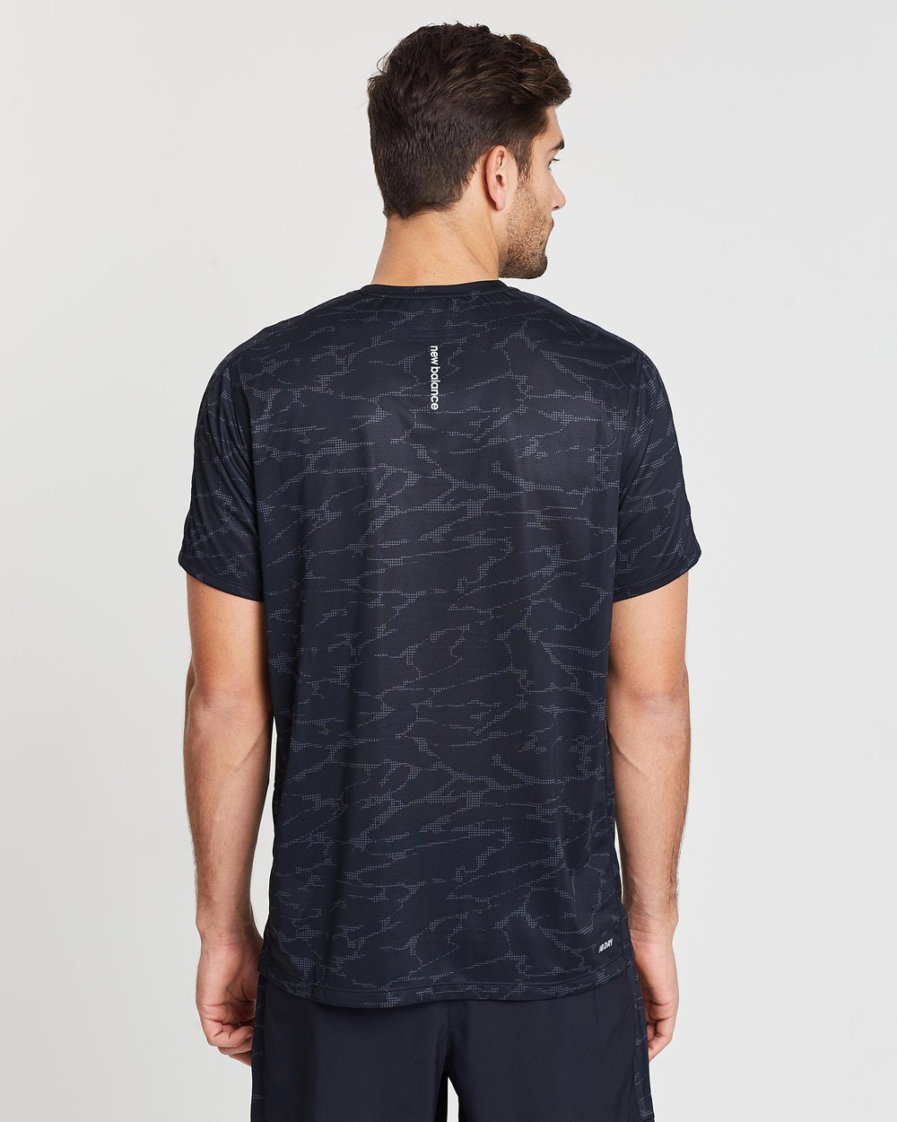 New Balance Men's Printed Accelerate Short Sleeve
