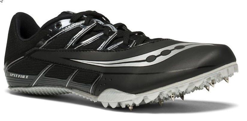 Men's Saucony Spitfire 4 Sprint Spike_black_silver
