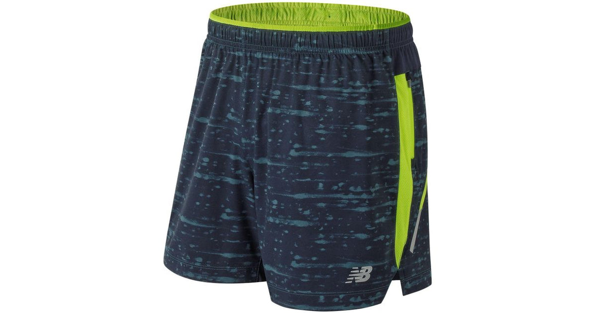 New Balance Men's Printed Impact 5 Inch Short