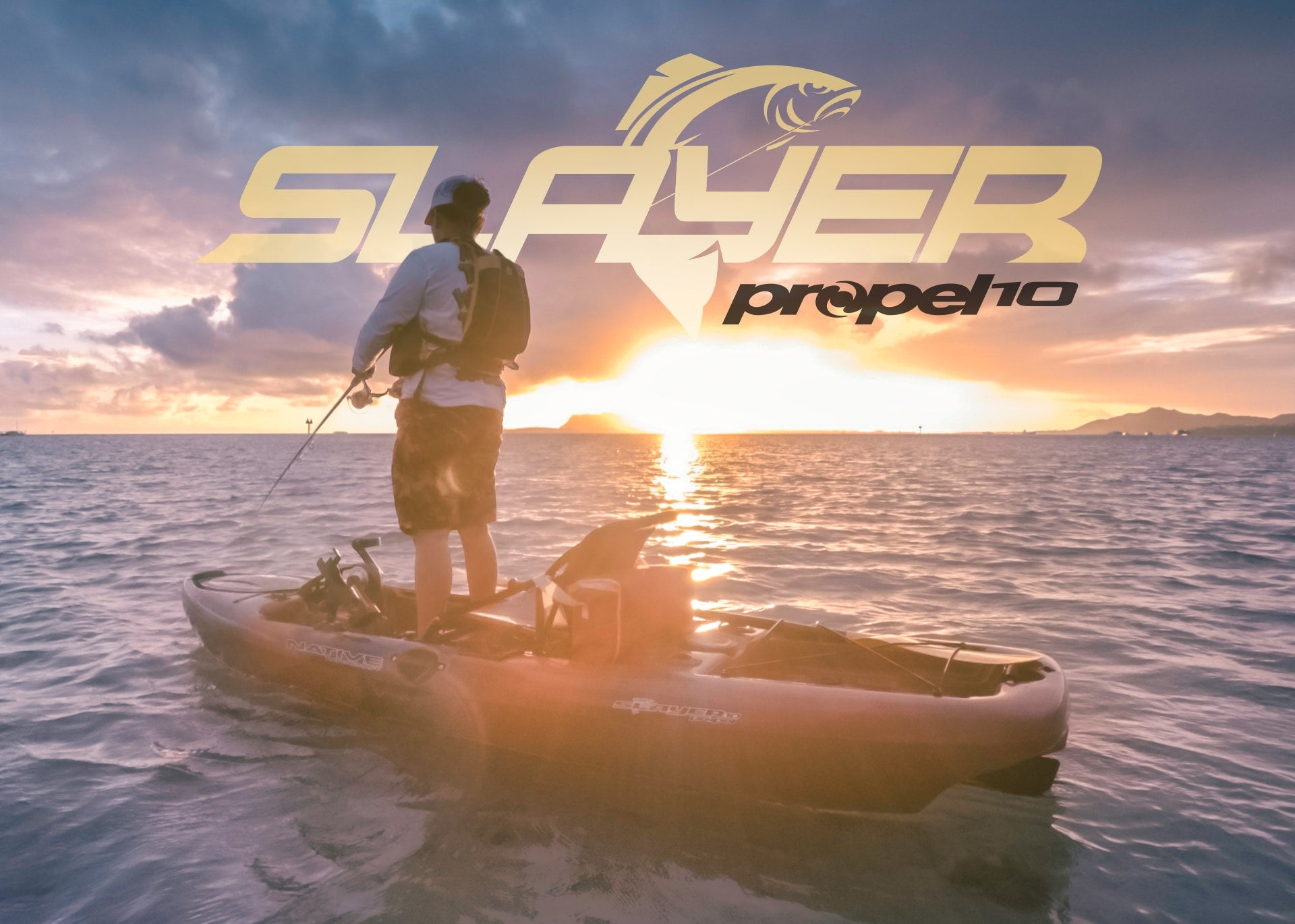 Angler fishing while standing in their Native Watercraft Slayer Propel 10