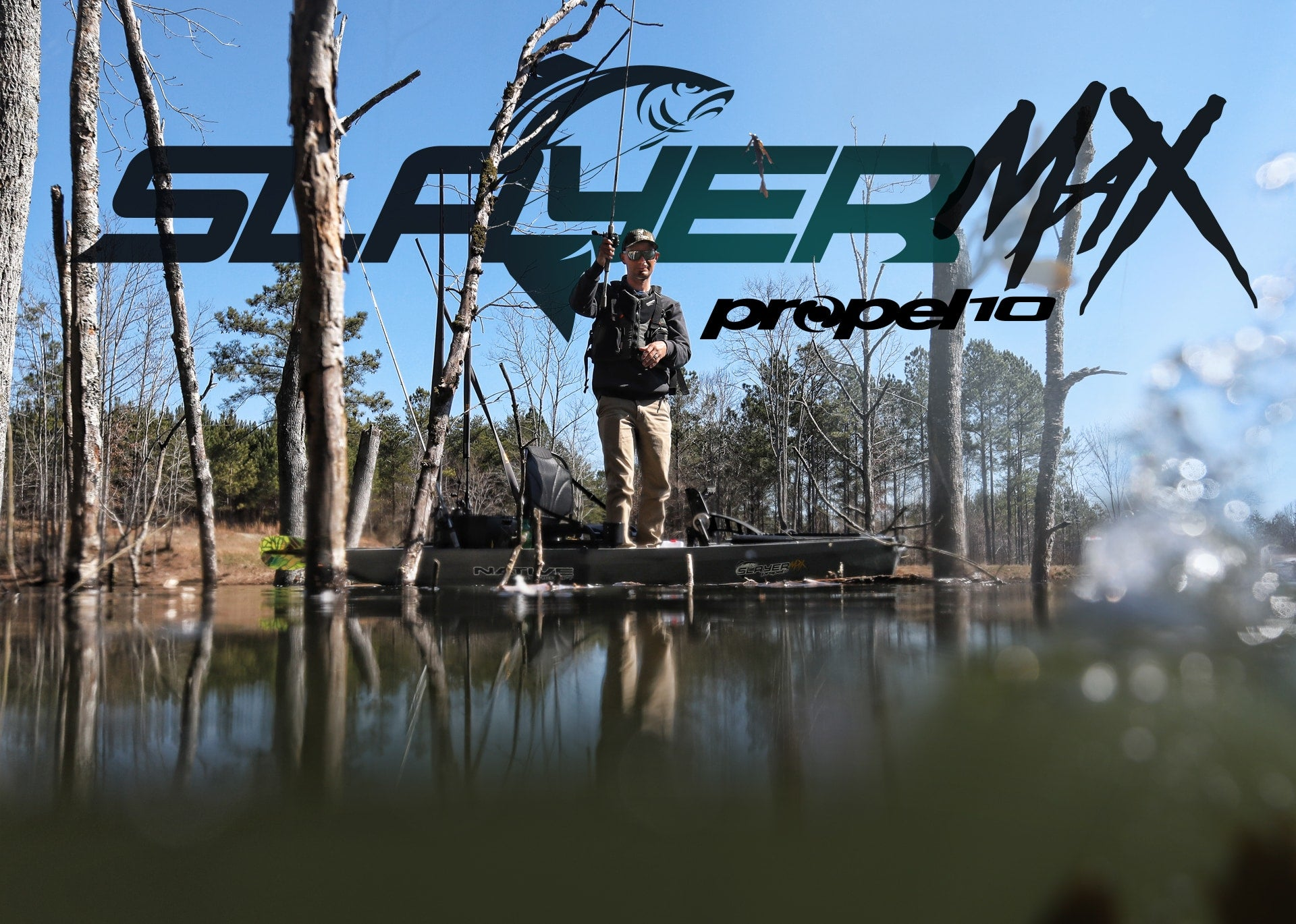 Angler fishing in a Slayer Max Propel 10