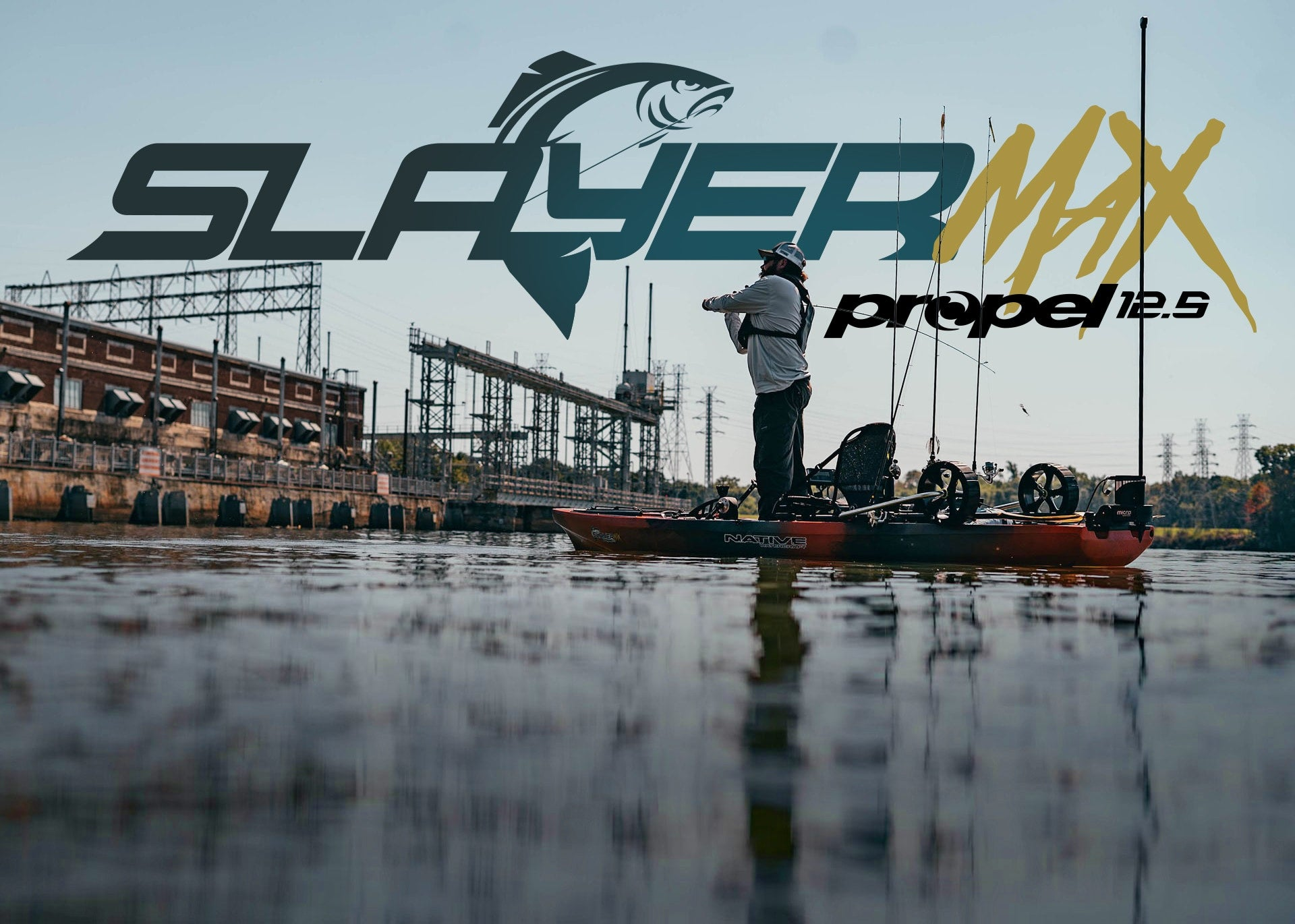 Angler fishing in a Native Watercraft Slayer Propel Max 12.5