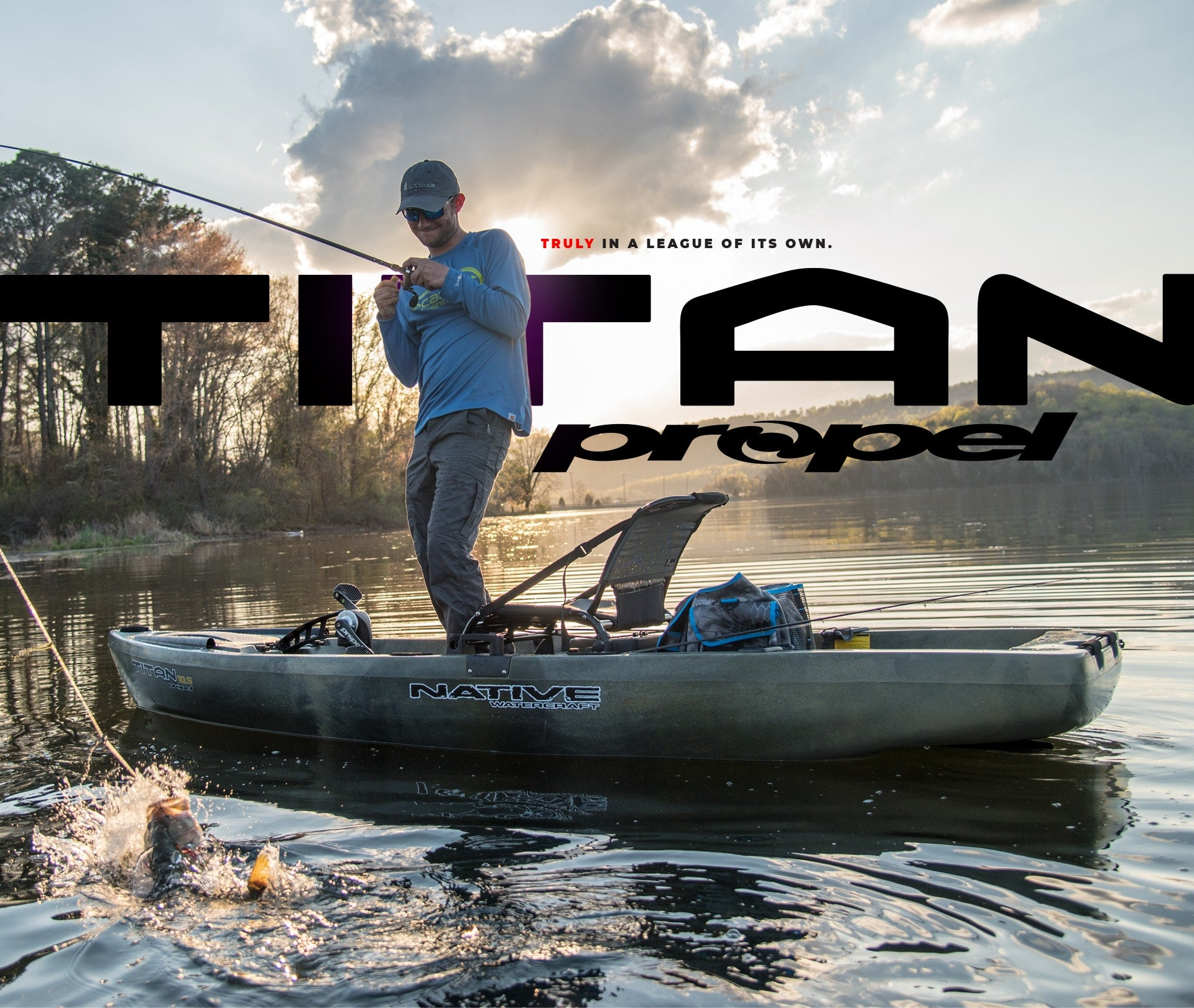 Two anglers paddling in their SS127 kayaks