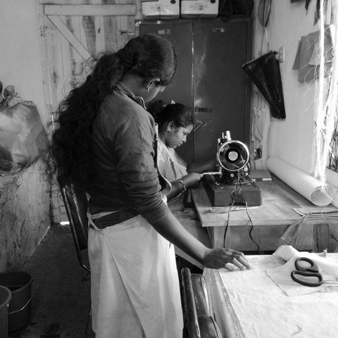 Sewing in the AMMA workshop.