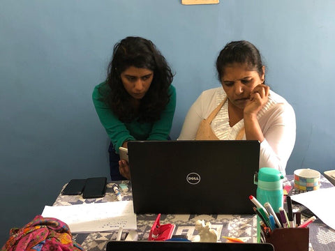 Johanna and Meena, AMMA's manager and administrative officer