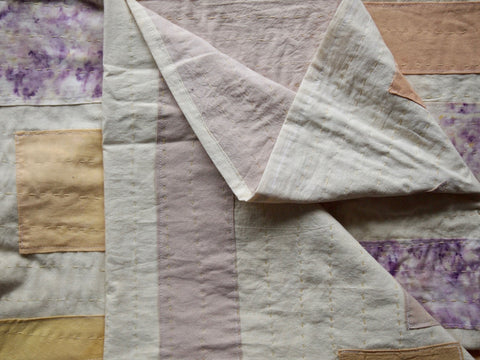 Naturally dyed quilt, handmade by mothers in Nuwara Eliya