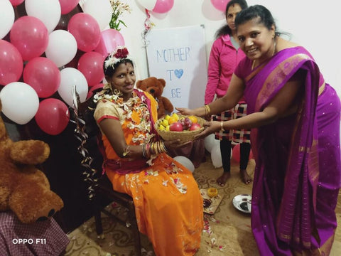 Baby shower at the AMMA workshop