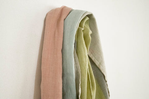 Naturally dyed, handwoven scarf