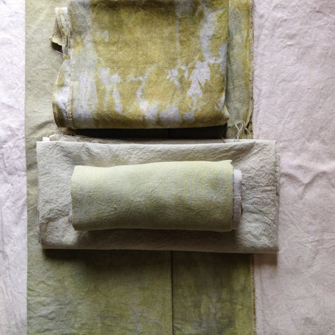 Cloth naturally dyed in our workshop in Sri Lanka