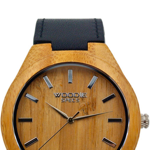 1010 Bamboo / Black Italian Leather