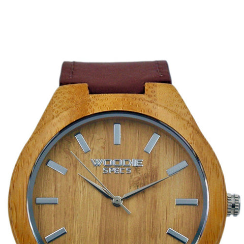1010 Bamboo / Brown Italian Leather