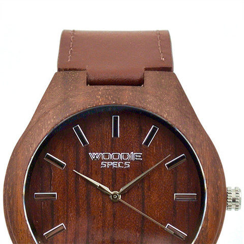 1010 Rosewood / Brown Italian Leather