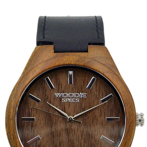 1010 Walnut Wood / Black Italian Leather