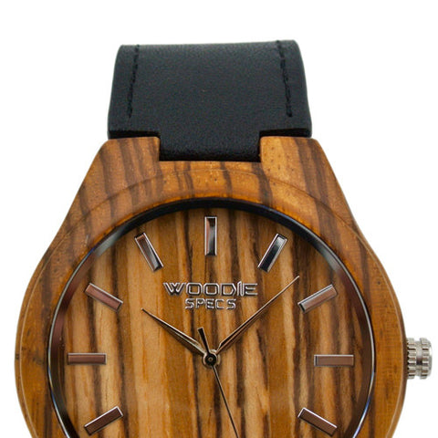 1010 Zebra Wood / Black Italian Leather