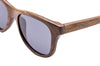walnut wood sunglasses close up