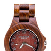 Women wood watch. Made with red sandalwood. Handmade wood watch. Womens wooden watch