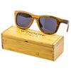 Large zebra wood sunglasses.