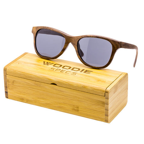Slim Walnut Wood Sunglasses
