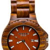 Men's wooden watch. Made with red sandalwood. Mens wood watches.