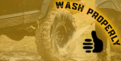 Washing your vehicle thoroughly after an off-road adventure is vital in maintaining and prolonging a healthy vehicle