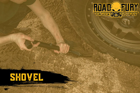 How To Unstuck your Vehicle when Off-Roading: A Shovel