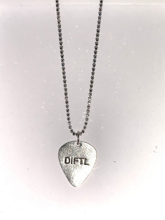 Limited Edition Silver Guitar Pick Necklace