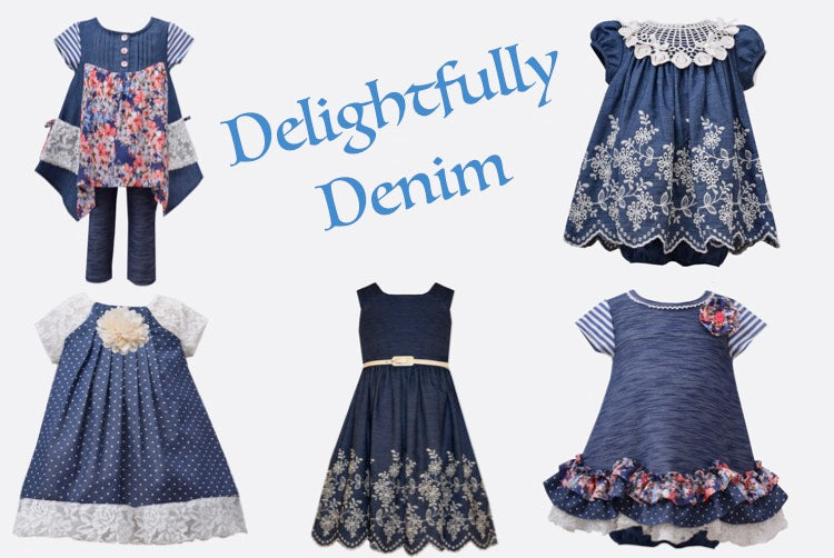 Girl's Denim Dresses Style Blog