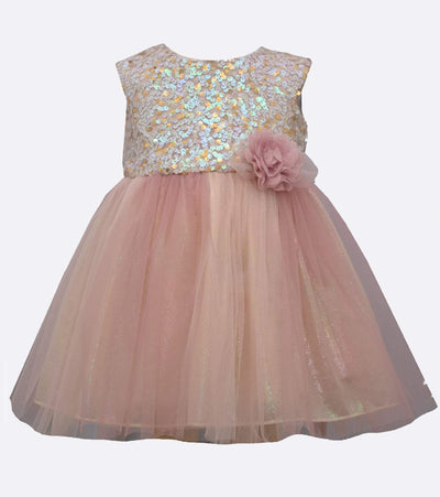 little girls sequin party dress with tulle skirt