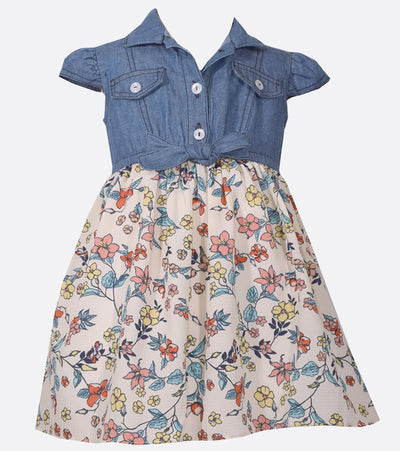 floral dress, little girl casual, dresses for girls, spring,
