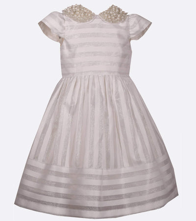 party dress, party dress for little girls, collar, pearl, pearls, pearl collar, classic, fancy, cute, fun