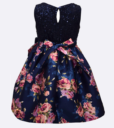 Brooke Sequin Floral Dress