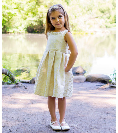 little girls party dress, special occasion dress for little girls, party dress, beige, embroidered, fancy
