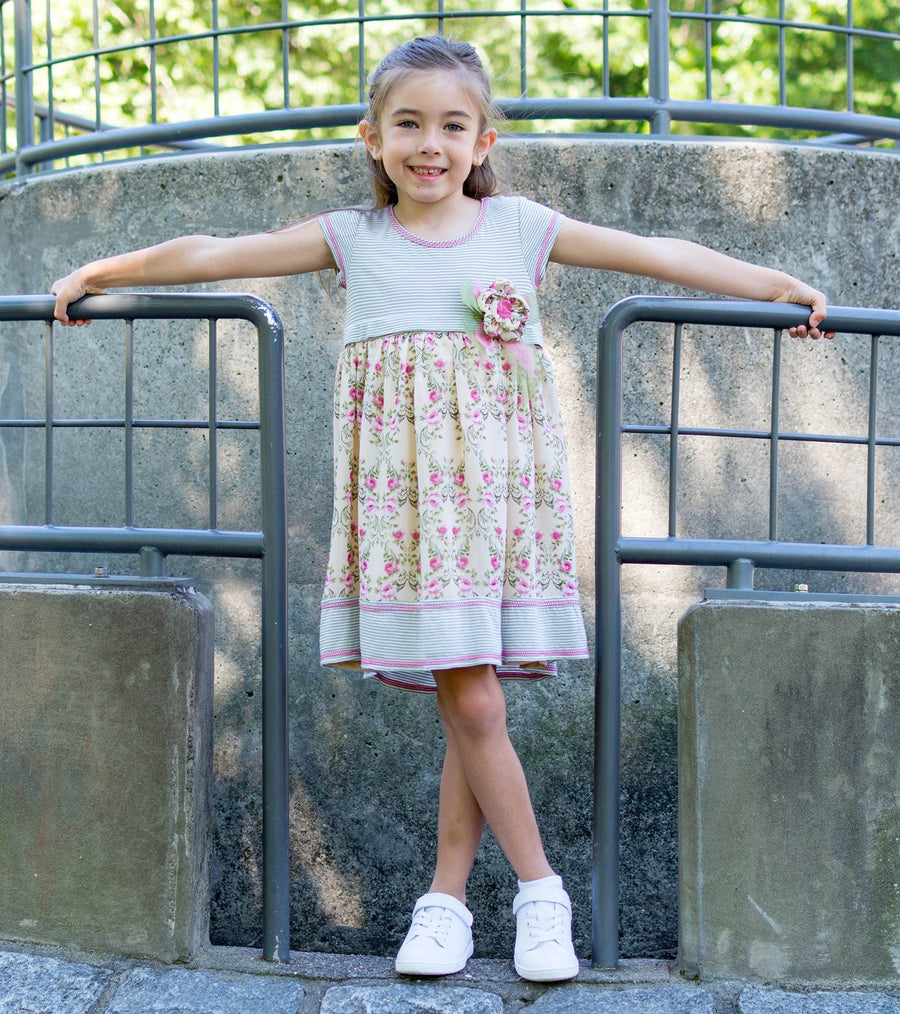 back to school, cute girls dress, floral, sage, girls dress, floral dress, sister dress, matching