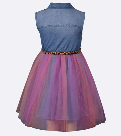 Darla Rainbow Tulle Dress