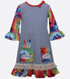 back to school dress for little girls with crayons