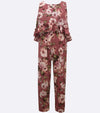 back to school floral jumpsuit for tweens