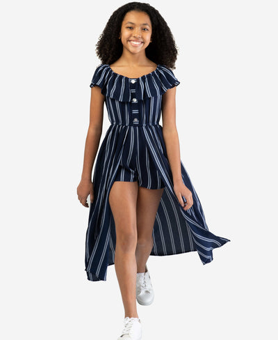 Tween navy and white stripe shaxi walkthrough