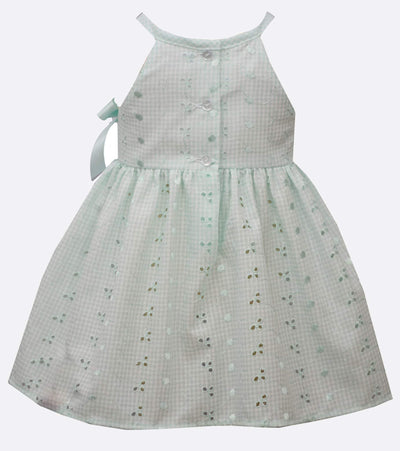 baby girls summer dress with eyelet