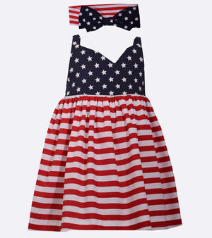 3efc1b5c3 americana, girls americana dress, red white and blue, sister style,  matching sister