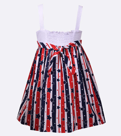 americana, girls americana dress, red white and blue, sister style, matching sister dress