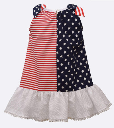 Little Girls American Flag 4th of July Dress