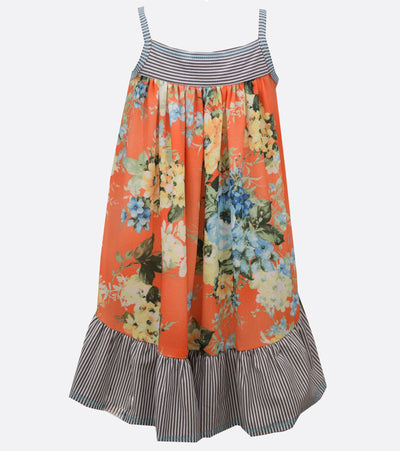 big girls high low floral sundress