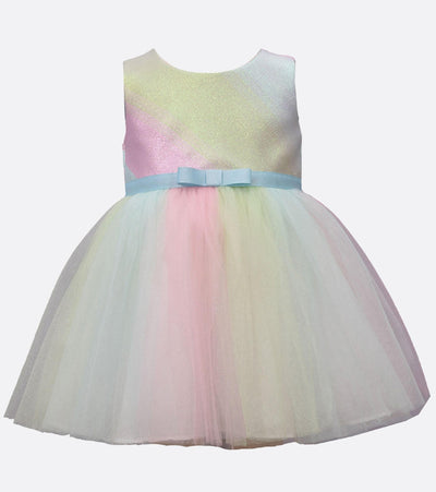 Matching sister dress with mesh skirt and satin band